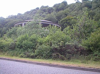 A472 road - The Crumlin Valley Colliery coal washery building on the A472 at Hafodyrynys between Crumlin and Pontypool