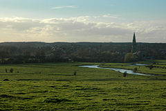 A prospect of Olney, across the Ouse flood plain
