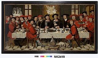 Arent, Claes en Willem van Liere en hun tafelgenoten