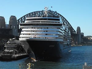 MS Oosterdam - Image: Oosterdam in Sydney bow