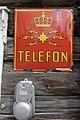 Oppdalsmuseet Bygdemuseum Skarsem telefonsentral Telephone office Laft tømmerhus 19c. Log house Telefon Televerket logo emaljeskilt Enamel sign etc Oppdal Trøndelag Norway 2019-04-25 5306.jpg