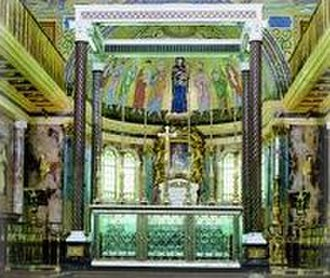 Opus Dei in society - Opus Dei's prelatic church, Our Lady of Peace, located in the central headquarters in Rome. Below the altar lie the mortal remains of St. Josemaría.