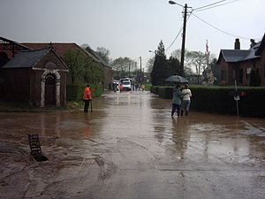 Muddy flood - Muddy flood occurring in Chaumont-Gistoux, Belgium