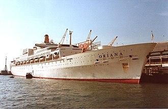 P&O Cruises - Image: Oriana Kowloon 1984