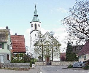 Ostdorf - The Ostdorf Evangelische Church (Lutheran). Built in 1832.