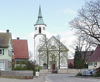 Ostdorf - The Ostdorf Evangelische Church (Lutheran). Built in 1832.