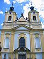 Ostružno (okr. Jičín), kostel Povýšení sv. Kříže, průčelí.JPG
