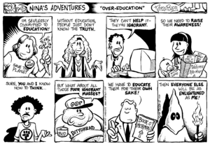 Nina's Adventures comic strip about the common...
