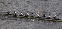 Oxford men's crew celebrating victory