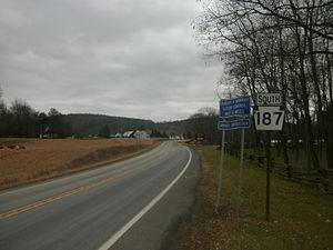 Pennsylvania Route 187 - Route 187 facing southbound from the New York state line in Windham Township