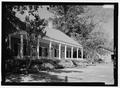 PERSPECTIVE VIEW LOOKING FROM THE SOUTHWEST - Chamard House, 120 Rue Amulet, Natchitoches, Natchitoches Parish, LA HABS LA-1350-5.tif