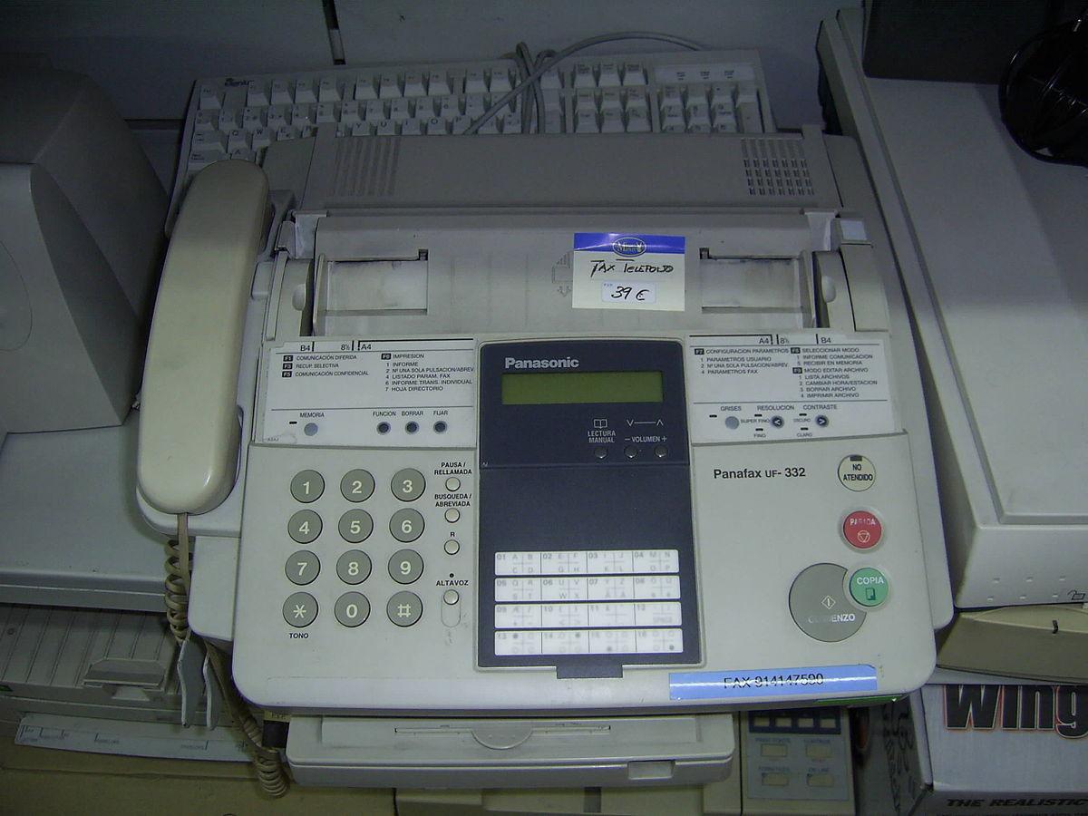 Fax - Wikipedia, a enciclopedia libre