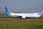 PK-GMQ - Garuda Indonesia - Boeing 737-8U3(WL) - CAN (14987181211).jpg