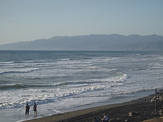 Marine conservation - The shore of the Pacific Ocean in San Francisco, California