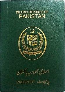 Pakistani passport Passport issued to Pakistani nationals