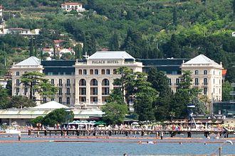 Austrian Riviera - Today's Kempinski Palace Hotel in Portorož, opened in 1910