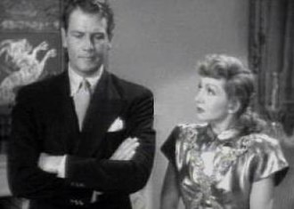 The Palm Beach Story - Joel McCrea and Claudette Colbert, stars of The Palm Beach Story, from the trailer for the film