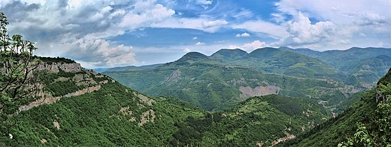 a panorama of the Iskar Gorge