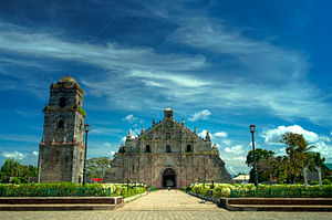 לוזון: Paoay Church of Ilocos Norte, Philippines