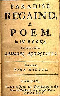 Samson Agonistes cover