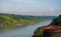 Paraguay River and Ciudad Del Este (Paraguay) from Puerto Iguazu, Argentina, Jan. 2011 - Flickr - PhillipC.jpg