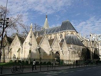Saint-Séverin, Paris - Saint-Séverin seen from the Rue Saint-Jacques