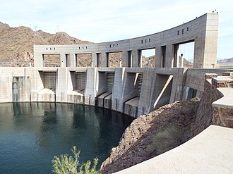 Parker Dam - Image: Parker Parker Dam as viewed from Arizona