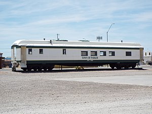 Parker, Arizona - Town of Parker railroad car