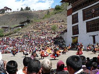 Public holidays in Bhutan - Image: Paro Tsechu