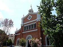 La chiesa del Sacro Cuore.