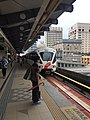 Pasar Seni southbound platform with train.jpg
