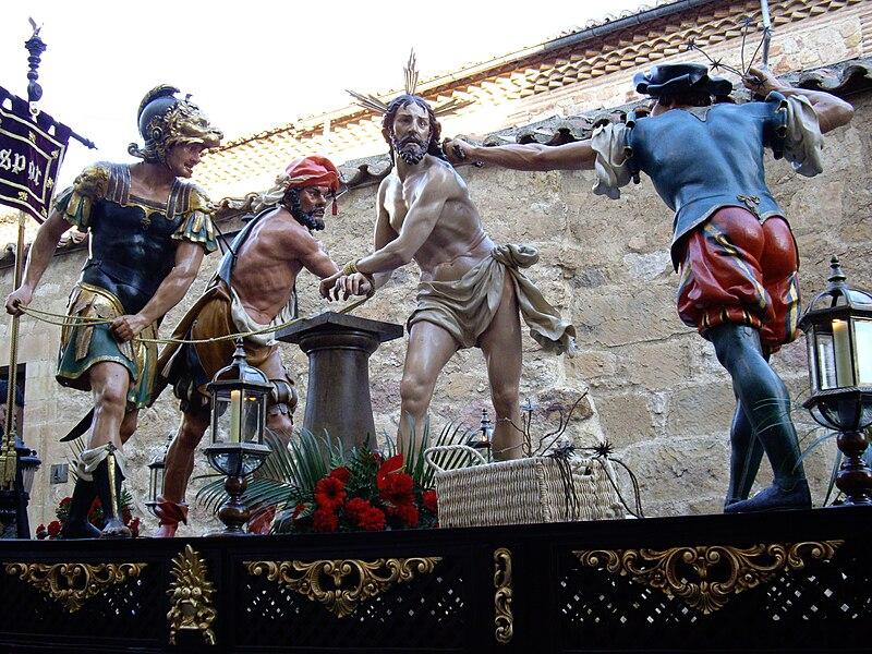 Archivo:Paso de La Flagelación de la Cofradía de la Vera Cruz de Salamanca.jpg
