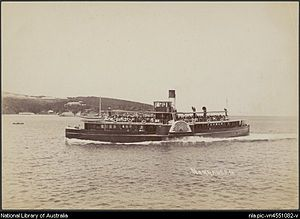 SS Kate (tug) - the Paddle Wheel Manly Ferry Narrabeen which sunk the SS Kate