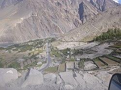 Passu Village view from Borith Lake slopes.jpg