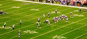 Spread offense - The New England Patriots lined up in a spread formation against the Philadelphia Eagles in 2007