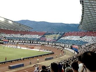 4th Guards Brigade (Croatia) - Hajduk's fan club Torcida salutes to 4th Guard Brigade of Croatian Army