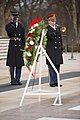 """Paul """"Triple H"""" Levesque and WWE Chief Brand Officer Stephanie McMahon place a wreath at the Tomb of the Unknown Soldier in Arlington National Cemetery (31623507965).jpg"""