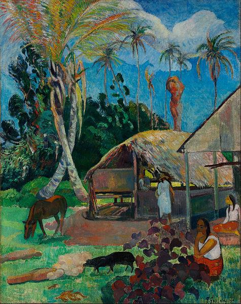 """Tableau de Gauguin : """"Les cochons noirs"""""""