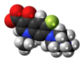 Pefloxacin zwitterion spacefill.png