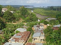 Pemba island, Tanzania. View from Chake Chake town center over the mangroves towards the sea.JPG