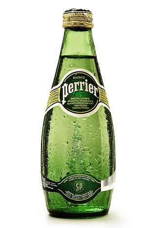 Perrier - Bottle of Perrier, here a 330 mL