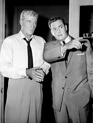 "William Hopper - Hopper and Raymond Burr in the Perry Mason episode, ""The Case of Paul Drake's Dilemma"" (1959)"