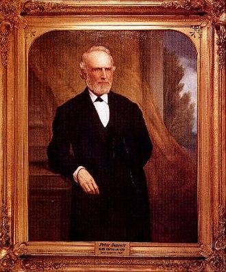 Peter Hardeman Burnett - Portrait of Burnett by William F. Cogswell