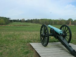 Petersburg, Union Gun aiming Crater area.jpg