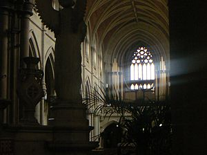 The organ as seen from the Sanctuary. St. Pete...