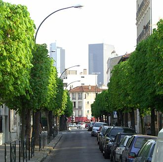 La Garenne-Colombes - A little street near the station