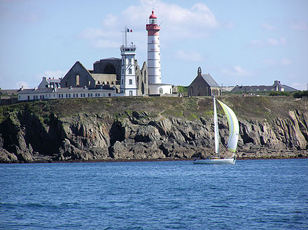 The Pointe Saint Mathieu with its sémpahore, lighthouse, and the abbey ruins