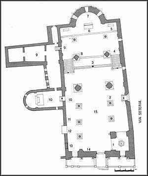 Santa Maria della Pieve - Plan of the church.