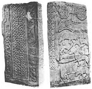 Drosten Stone - Image: Pictish.stone.St.Vig eans
