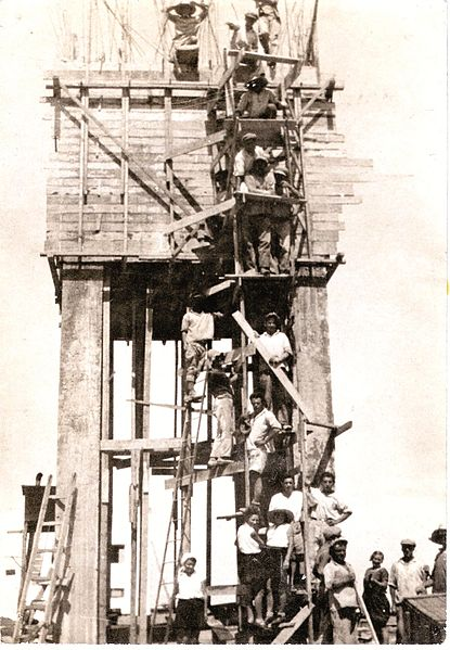 בניית המגדל במשמר השרון